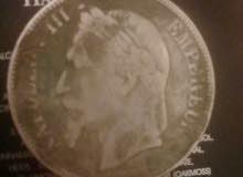 قطعة نقدية فرنسية قديمة من عهد نابليون