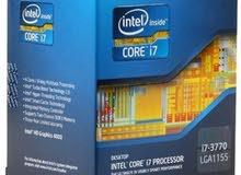 طلب شراء معالج كمبيوتر مكتبي Core i 7 3770 أو أي معالج Core i 7 الجيل الثالث