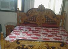 غرفه نوم كامله دولب 6 فرد كبير خشب من نوع قديم