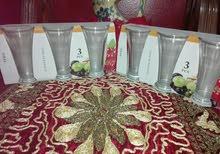 طقم كوبايات للعصير زجاج 6قطع
