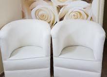 كنبتين بيضاء جديدة ونظيييفه جداااا لم تستخدم للبيع
