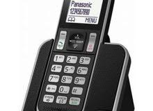 هاتف بانسونيك لاسلكي جديد بالكرتونة لم يستخدم
