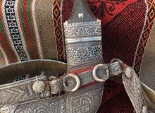 خنجر قرن زراف هندي صياغة نقش بالقلم