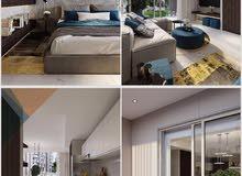 شقة في مدينة سمو الشيخ محمد بن راشد غرفة و صالة