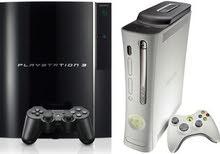 مطلوب xbox 360 او play station 3 بسعر 100