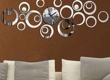 ساعة حائط ديكور سوبر جودة عالية وبأسعار تنافسية
