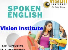 Spoken English Classes at Vision Institute. Call
