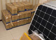ألواح شمسية وبطاريات وإنفرترات وكوابل نحاسية ل الطاقة الشمسية وكونكتورات كلها جديدة وحديثة