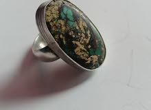 خاتم فيروز نيشابوري اصلي نادر الحجم راهي