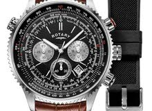Rotary  Mens  Pilots Chronograph  Interchangeable Strap  GS00100/04/KIT