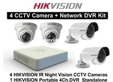 4كاميرات مراقبة دقة 2ميغابكسل نوع هيك فيجن