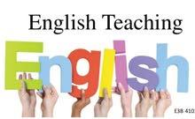 تعليم مهارات اللغة الانجليزية Teaching of English Skills