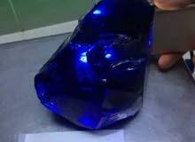حجر زفير (ياقوت) ازرق شفاف مسقول وزنه 1970 قيراط