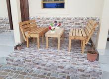 عمل طاولات خشبيه وكراسي وبيوت الطيور والاقفاص