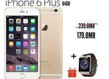 Iphone 6 plus 64gb عرض خاص اصلي و جديد بسعر المحرقة لاخر كمية