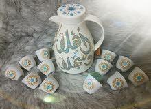 دلة قهوة ضيافة مع فناجين  6 او 12 فنجان