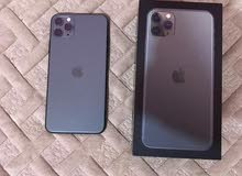 ايفون 11برو ماكس ذاكره 256 خطين الجهاز مستعمل نضافه 100%
