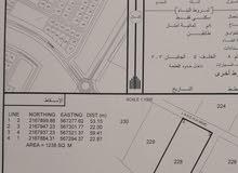 ارض سكنية بمركز الدقم 1240 م