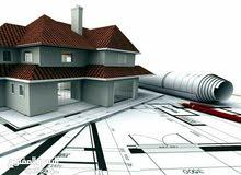 إعداد المخططات الهندسية و تنفيذها و بناء و صيانة كافة أنواع المباني