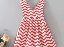 فستان احمر بتاتي من 3-4 سنوات