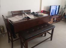 طاولة سفرة 6 مقاعد بحالة الوكالة