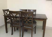 طقم سفرة 6 مقاعد مشترى من هوم سنتر  Dinning Table 6 chairs  bought from Home Centre