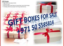 Paper gift boxes for sale, packing material