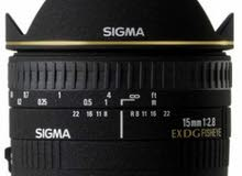 Lens sigma 15mm ex dg fisheye