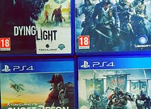 Ghost Recon :70dhs Assassin Creed: 70dhs Dying light + For honor : 50 Dhs for ea