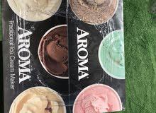brand new aroma ice cream maker مكينة ايس كريم اروما جديدة