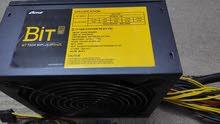 باور سبلاي  Bit 750 Watt 80Plus به 6 كابلات 8Pin لتشغيل جميع الكروت
