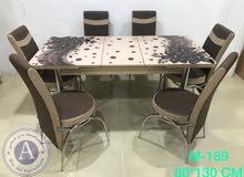 طاولة طعام 6كراسي جديدة
