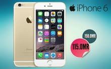 هاتف اصلي IPHONE 6 ذاكرة 16 جيجا اصلي مع ضمان و خمس جوائز