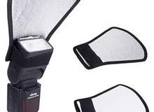 علبة ناعمة لناشر اضاءة الفلاش وعاكس بلون ابيض