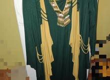 فستان زيتي قطعتين