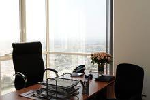 مكاتب مجهزة و استدامة (مع الاستخدام و بدون ) بأرقي مكان بدبي