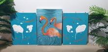 رسومات - فن - ديكور - لوحات - خشب - براويز - تطريز