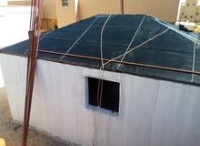 قرميد وعوازل ماءية وبناء الغرف وجميع انواع الترميمات