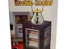 دفاية مع طباخة كهربائية ماركة DLC للتدفئة وعمل المشروبات الساخنة ضمان عامين .