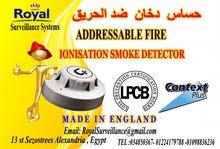 مستشعرات  دخان الحريق  Addressableبأعتماد اوروبى
