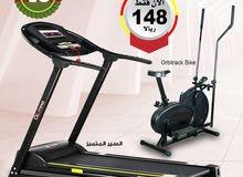العرض الاكثر مبيعا جهاز مشي يتحمل وزن 110 كيلو +سيكل اوربتراك للتخسيس