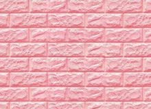 PE Foam 3D Wall Stickers Brick Pattern Self Adhesive – Pink / ملصقات الحائط المج