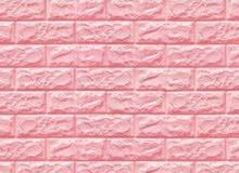 PE Foam 3D Wall Stickers Brick Pattern Self Adhesive – Pink / ملصقات الحائط المج
