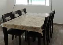 طاولة سفرة 6 مقاعد خشب ماليزي