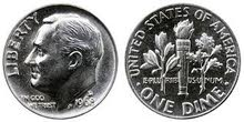 one dime 1968 silver usa