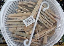 سلة ملاقط غسيل خشب نوعية ممتازة