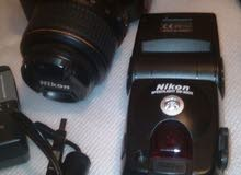 كاميرا تصوير نيكون D5000 كاملة شغالة