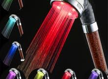 دش مضئ و مقوي لضخ الماء لا يحتاج الى بطاريه او كهرباء دوش التورمالين المضئ