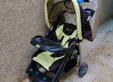 عربانة اطفال + كرسي اطفال او حمالة اطفال للبيع