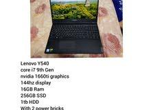 Lenovo Y540 Gaming laptop